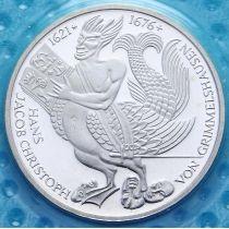 ФРГ 5 марок 1976 год. Ганс Гриммельсгаузен. Серебро. Пруф