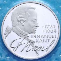 ФРГ 5 марок 1974 год. Иммануил Кант. Серебро. Пруф