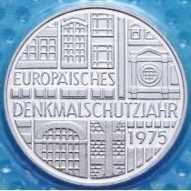 ФРГ 5 марок 1975 год. Год защиты памятников. Серебро. Пруф
