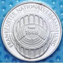 ФРГ 5 марок 1973 год. Национальное собрание. Серебро. Пруф