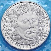 ФРГ 5 марок 1983 год. Мартин Лютер. Пруф.