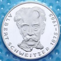 ФРГ 5 марок 1975 год. Альберт Швейцер. Серебро. Пруф