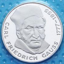ФРГ 5 марок 1977 год. Карл Фридрих Гаусс. Серебро. Пруф