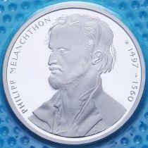 ФРГ 10 марок 1997 год. J. Филипп Меланхтон. Серебро. Пруф