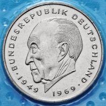 ФРГ 2 марки 1980-1883 год. Конрад Аденауэр. D, F.