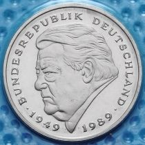 ФРГ 2 марки 1997-2000 год. Франц Йозеф Штраус. D.