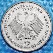 Монета ФРГ 2 марки 1980-1983 год. Теодор Хойс. D,F.