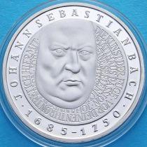 ФРГ 10 марок 2000 год. D. Иоганн Себастьян Бах. Серебро.