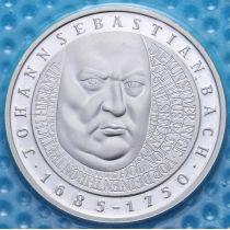 ФРГ 10 марок 2000 год. F. Иоганн Себастьян Бах. Серебро. В запайке.