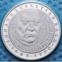 ФРГ 10 марок 2000 год. G. Иоганн Себастьян Бах. Серебро. В запайке.