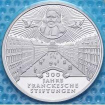 ФРГ 10 марок 1998 год. J. Фонд Франке. Серебро. Пруф