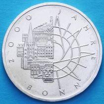 ФРГ 10 марок 1989 год. 2000 лет городу Бонн. D. Серебро.