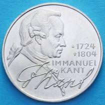 ФРГ 5 марок 1974 год. Иммануил Кант. Серебро.