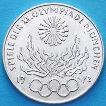 ФРГ 10 марок 1972 год. Олимпиада в Мюнхене, факел. D. Серебро