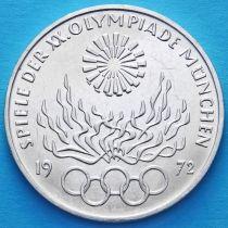 ФРГ 10 марок 1972 год. Олимпиада в Мюнхене, факел. G. Серебро