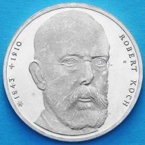 ФРГ 10 марок 1993 год. Роберт Кох. J. Серебро.