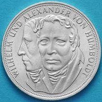 ФРГ 5 марок 1967 год. Братья Гумбольдты. Серебро.