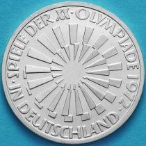 ФРГ 10 марок 1972 год. Олимпиада, эмблема. F. Серебро