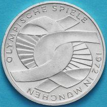 ФРГ 10 марок 1972 год. G. Олимпиада, узел. Серебро
