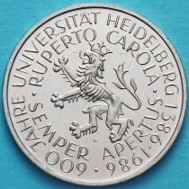 ФРГ 5 марок 1986 год. Гейдельбергскому Университету 600 лет.