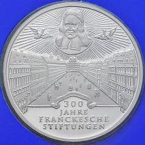 ФРГ 10 марок 1998 год. D. Фонд Франке. Серебро. Пруф.