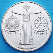 ФРГ 10 марок 2000 год. А. Экспо 2000. Серебро.