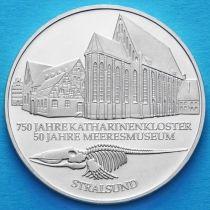 ФРГ 10 марок 2001 год. А. Военно-морской музей в Штральзунде. Серебро.