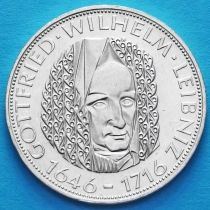 ФРГ 5 марок 1966 год. Готфрид Вильгельм Лейбниц. Серебро.