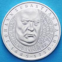 ФРГ 10 марок 2000 год. F. Иоганн Себастьян Бах. Серебро.