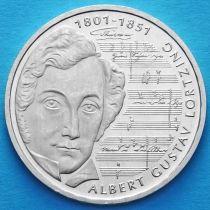 ФРГ 10 марок 2001 год. J. Альберт Лорцинг. Серебро.