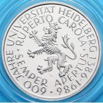ФРГ 5 марок 1986 год. Гейдельбергскому Университету 600 лет. PROOF