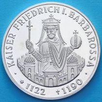 ФРГ 10 марок 1990 год. F. Фридрих I Барбаросса. Серебро