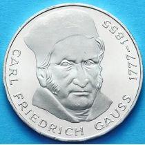 ФРГ 5 марок 1977 год. Карл Фридрих Гаусс. Серебро