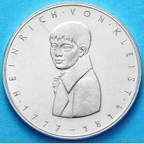 ФРГ 5 марок 1977 год. Генрих фон Клейст. Серебро