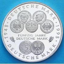 ФРГ 10 марок 1998 год. D. Немецкая марка. Серебро. Пруф.