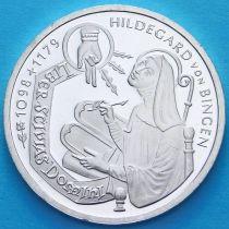 ФРГ 10 марок 1998 год. F. Хильдегарда фон Бинген. Серебро. Пруф.