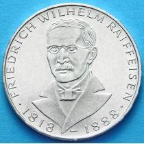 ФРГ 5 марок 1968 год. Фридрих Вильгельм Райфазен. Серебро