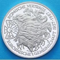 ФРГ 10 марок 1987 год. G. Римский договор. Серебро. Пруф.