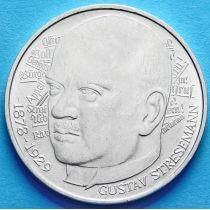 ФРГ 5 марок 1978 год. Густав Штреземан. Серебро