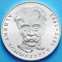 ФРГ 5 марок 1975 год. Альберт Швейцер. Серебро