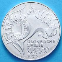 ФРГ 10 марок 1972 год. J. Олимпиада, стадион. Серебро