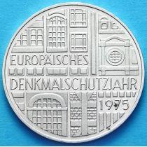 ФРГ 5 марок 1975 год. Год защиты памятников. Серебро