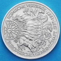 ФРГ 10 марок 1987 год. G. Римский договор. Серебро.