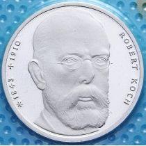 ФРГ 10 марок 1993 год. Роберт Кох. J. Серебро. В запайке.