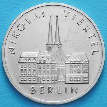 ГДР 5 марок 1987 год. Исторический квартал Николаифиртель.