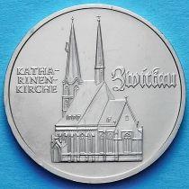 ГДР 5 марок 1989 год. Церковь Св. Екатерины в Цвиккау.
