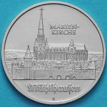 ГДР 5 марок 1989 год. Церковь Святой Марии в Мюльхаузене.