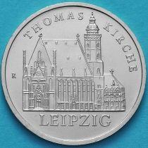 ГДР 5 марок 1984 год. Церковь святого Томаса в Лейпциге