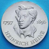 ГДР 10 марок 1972 год. Генрих Гейне. Серебро.