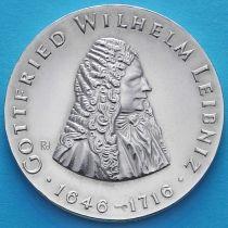 ГДР 20 марок 1966 год. Готфрид Вильгельм Лейбниц. Серебро.
